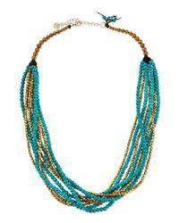 Nakamol   Blue Turquoise Magnesite Multi-strand Necklace   Lyst