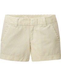 Uniqlo - Natural Women Chino Stripe Micro Shorts - Lyst