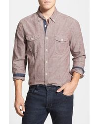 Jeremiah | Purple 'wade' Regular Fit Chambray Sport Shirt for Men | Lyst