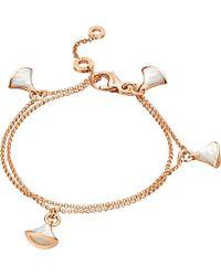 BVLGARI | Diva 18ct Pink-gold Bracelet | Lyst