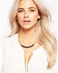 Oasis - Metallic Facet Cupball Chain Collar Necklace - Lyst