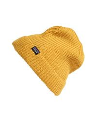 Patagonia - Yellow 'fisherman' Beanie for Men - Lyst
