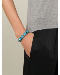 Valentino | Blue 'Rockstud' Bracelet | Lyst