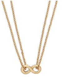 kate spade new york | Metallic New York Gold-tone Mini Infinity Pendant Necklace | Lyst
