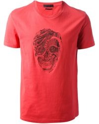 Alexander McQueen - Red Printed T-shirt for Men - Lyst