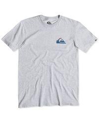 Quiksilver | Gray Quicksilver Everyday Blend Logo T-shirt for Men | Lyst