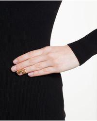 Bijules - Metallic Gold-tone Nail Ring - Lyst