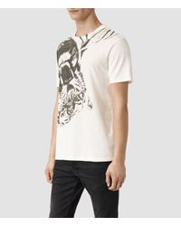 AllSaints   Natural Grateful Crew T-shirt for Men   Lyst