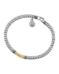 John Hardy | Metallic Bedeg Silver & 18k Lava Beaded Bracelet | Lyst
