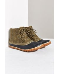 Sorel - Green Out 'n About Leather Boot - Lyst