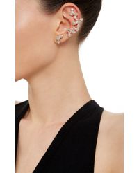 Ryan Storer - Pink Rose Gold Plated Swarovski Crystal Ear Cuff With Stud - Lyst