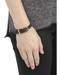 Marc By Marc Jacobs | Black Buckled Rubber Bracelet | Lyst