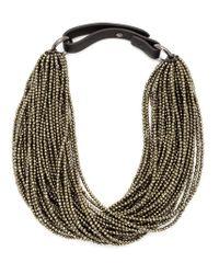Brunello Cucinelli - Metallic Beaded Choker Necklace - Lyst