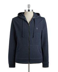 Original Penguin | Blue Knit Cotton-blend Hoodie for Men | Lyst