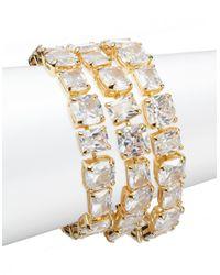 Lauren by Ralph Lauren | Metallic Multi-stone Bracelet | Lyst