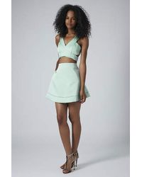 TOPSHOP - Green Limited Edition Satin Bralet - Lyst