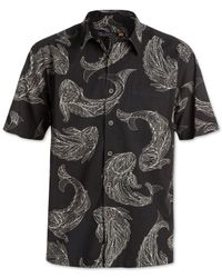 Quiksilver | Black Waterman Juno Beach Printed Short-sleeve Shirt for Men | Lyst
