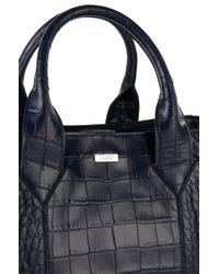 HUGO - Blue 'valerie-c' | Leather Shopper With Detachable Strap - Lyst