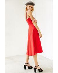 Kimchi Blue | Red Ponte Empire Waist Midi Dress | Lyst