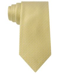 Sean John | Yellow White Float Unsolid Solid Tie for Men | Lyst