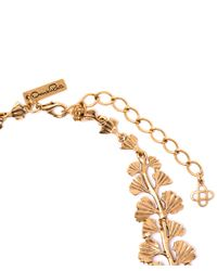 Oscar de la Renta - Metallic Gold-plated Fern Necklace - Lyst
