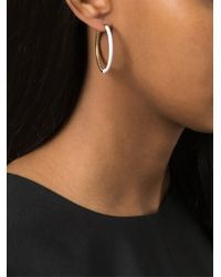 Marc By Marc Jacobs - White Contrast Hoop Earrings - Lyst
