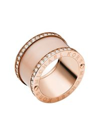 Michael Kors   Pink Rose Goldtone And Blush Barrel Ring   Lyst