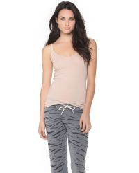 Skin - Natural Cotton Jersey Camisole - Black - Lyst