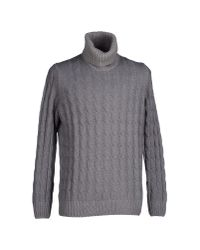 Altea - Gray Turtleneck for Men - Lyst