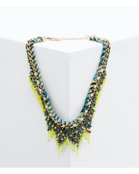 Zara | Multicolor Necklace With Mesh And Fluorescent Tubes | Lyst