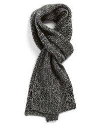 Vince | Black Ribbed & Marled Cashmere Scarf for Men | Lyst