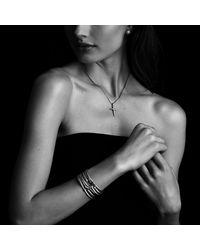David Yurman | Metallic Cable Collectibles Fleur-de-lis Bracelet With Gold | Lyst