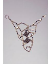 Bebe - Metallic Lace Hand Jewelry - Lyst