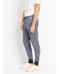 Vince - Blue Double-faced Knit Track Pant for Men - Lyst
