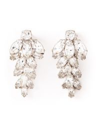 Dior | Metallic Crystal Glamour Earrings | Lyst