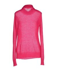 P.A.R.O.S.H. - Pink Turtleneck - Lyst