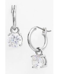 Anne Klein | Metallic Cubic Zirconia Drop Earrings | Lyst