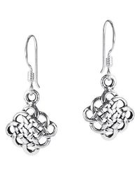 Aeravida | Metallic Cute Celtic Knot Sterling Silver Dangle Earrings | Lyst