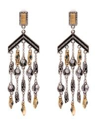 Lulu Frost | Metallic Silver-plated Citadel Chandelier Earrings | Lyst