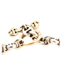 Hoorsenbuhs   Metallic Tri-link Bracelet   Lyst