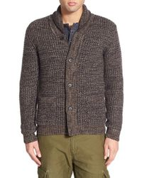 Scotch & Soda | Gray Shawl Collar Cardigan for Men | Lyst