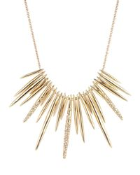 Alexis Bittar | Metallic Golden Crystal Spike Bib Necklace | Lyst