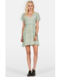 Volcom - Natural 'So Serious' Babydoll Dress - Lyst