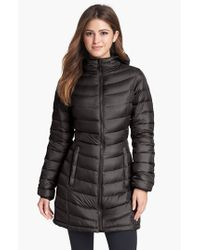 The North Face | Black 'jenae' Hooded Down Jacket | Lyst