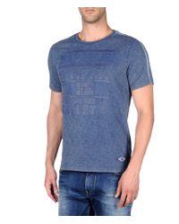 Napapijri - Gray Short Sleeve T-shirt for Men - Lyst