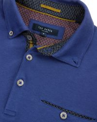 Ted Baker | Blue Tempist Jersey Polo Shirt for Men | Lyst