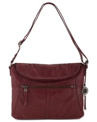 The Sak - Red Leather Esperato Flap Hobo - Lyst