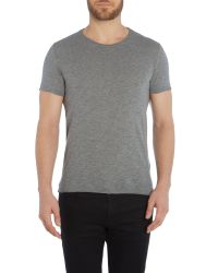 Sisley Men | Gray Plain Crew Neck Regular Fit T-shirt for Men | Lyst