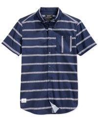 Wesc - Blue Avon Slim-fit Shirt for Men - Lyst