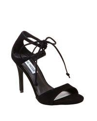 Steve Madden | Black Semona Suede High-heel Sandals | Lyst